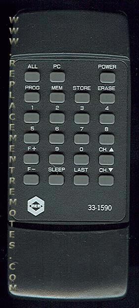 MEMOREX 331590 Remote Control