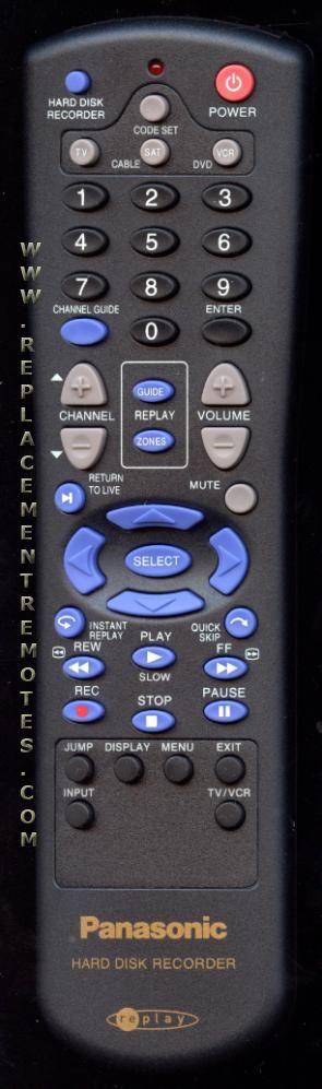 Panasonic 3401B02 DVD Recorder (DVDR) Remote Control