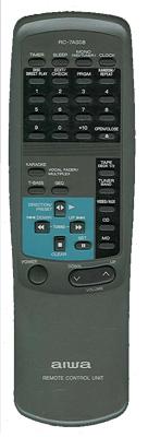 AIWA 87NFR610010 Audio System Remote Control