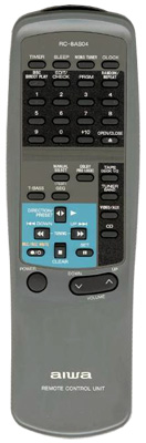 AIWA 88NFV605010 Audio System Remote Control