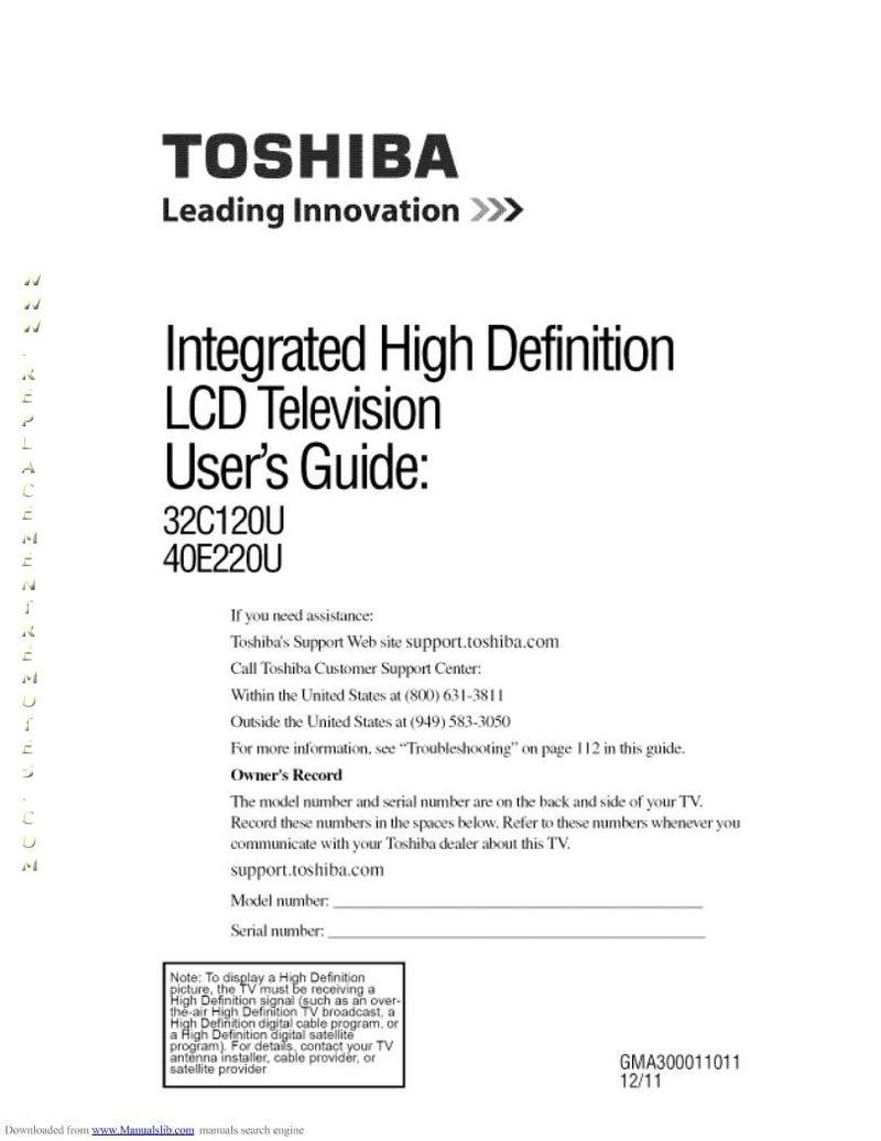 Buy Toshiba 40e220uom 32c120u1 32c120u2 40e220u Operating