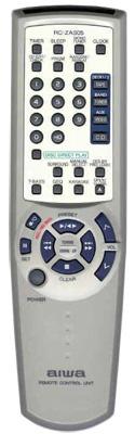 AIWA 8ZNFV703010 Audio System Remote Control