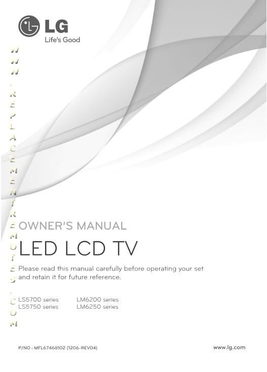 LG 42LS5700OM Operating Manual
