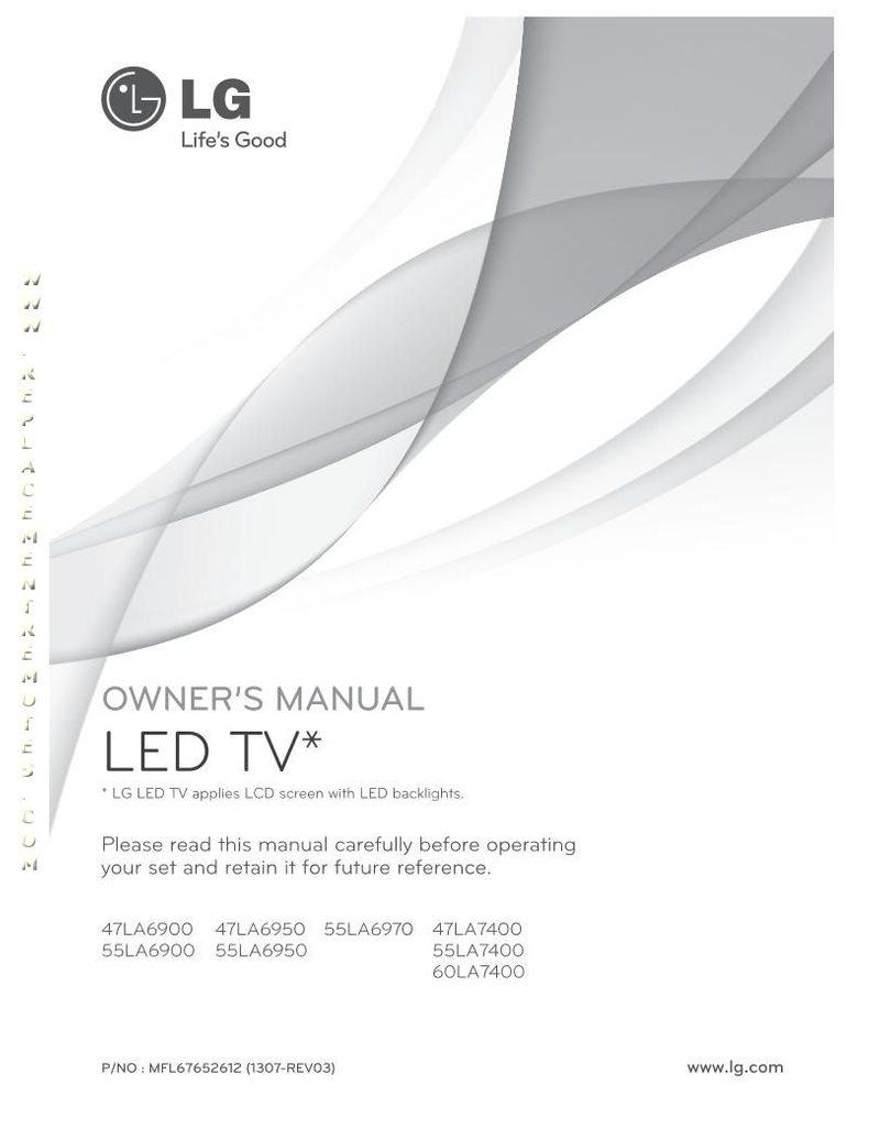 LG 47LA6900OM Operating Manual