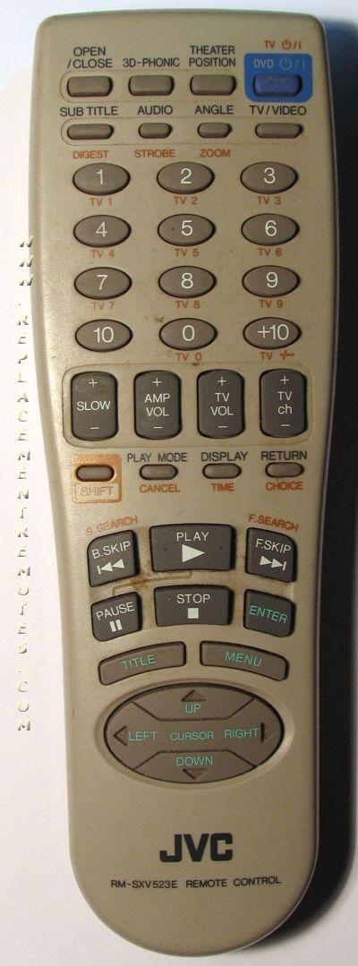 JVC RMSXV523E Remote Control