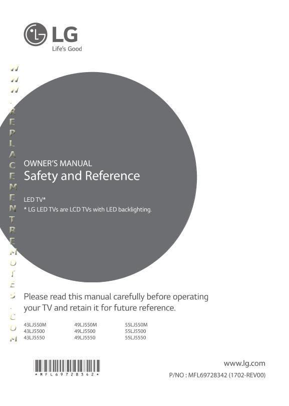 LG 49LJ550MOM Operating Manual