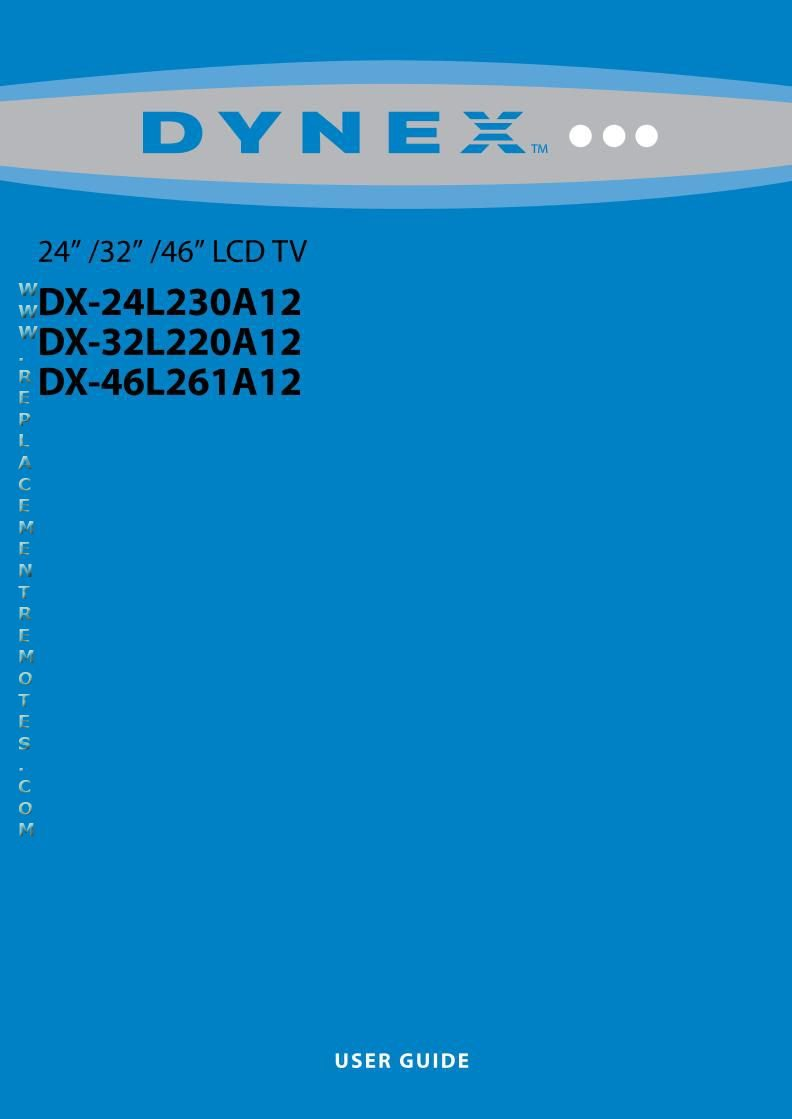 Dynex DX32L220A12AOM Operating Manual