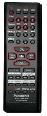Buy Panasonic N2qahb000056 Audio System Remote Control