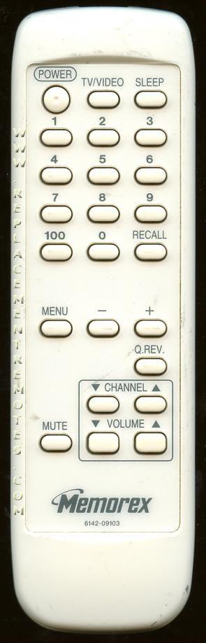 MEMOREX 614209103 Remote Control