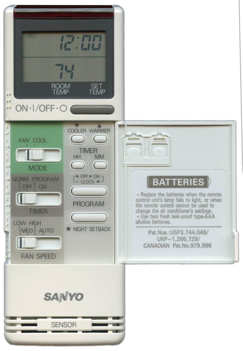 Buy Sanyo Rs1211 6231262019 Air Conditioner Unit Remote