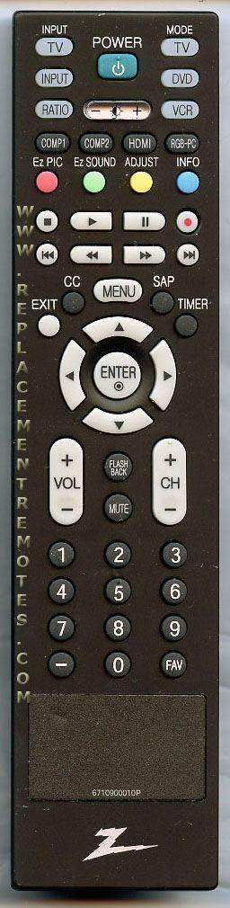 Buy Zenith 6710900010p Tv Remote Control