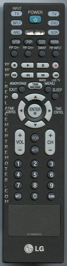 LG 6710900010S TV Remote Control