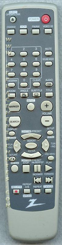 ZENITH 6710RCAM22A Audio/Video Receiver Remote Control