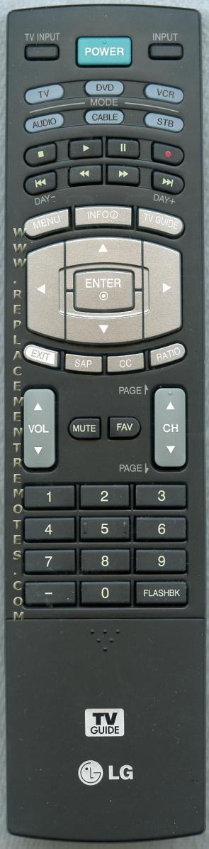 LG 6710T00017W TV Remote Control