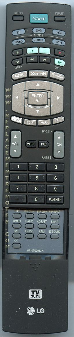 LG 6710T00017X TV Remote Control