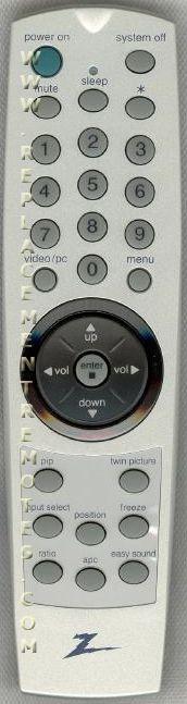 ZENITH 6710V00042H TV Remote Control