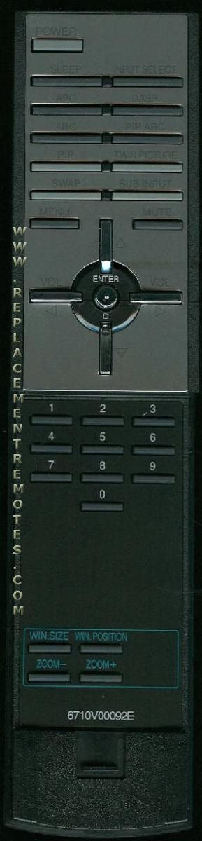 LG 6710V00092E TV Remote Control