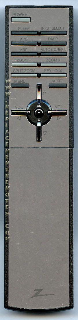 ZENITH 6710V00092Z TV Remote Control