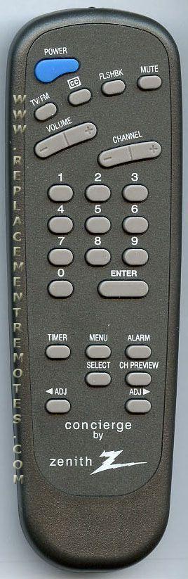 ZENITH 6710V00108D Master Commercial TV Remote Control