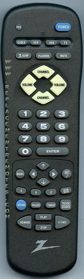 ZENITH 6710V00121A Remote Control