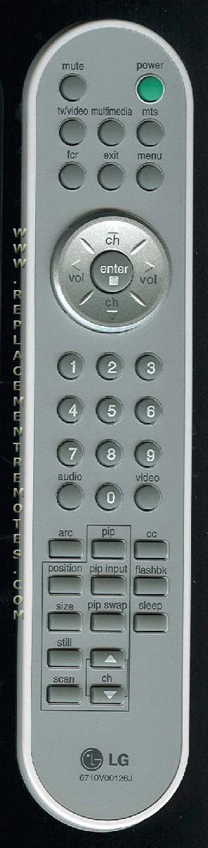 LG 6710V00126J TV Remote Control