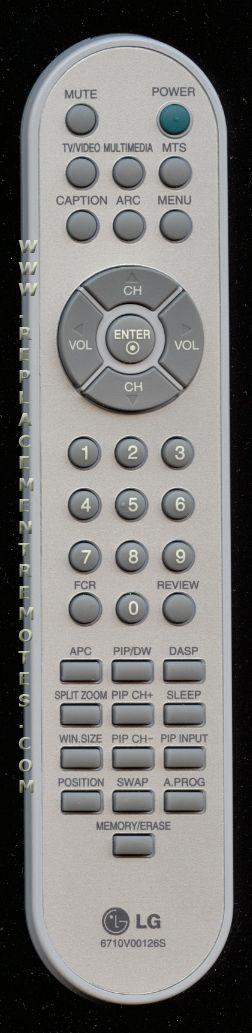 LG 6710V00126S TV Remote Control