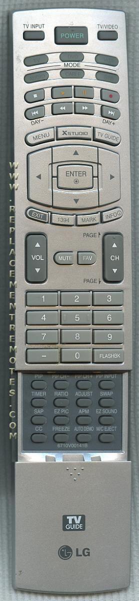 LG 6710V00141B Remote Control