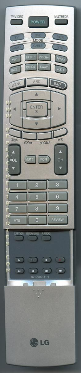 LG 6710V00141H TV Remote Control