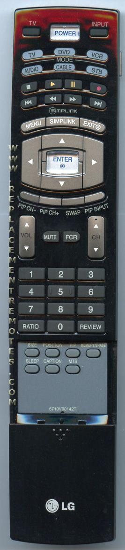 LG 6710V00142T TV Remote Control