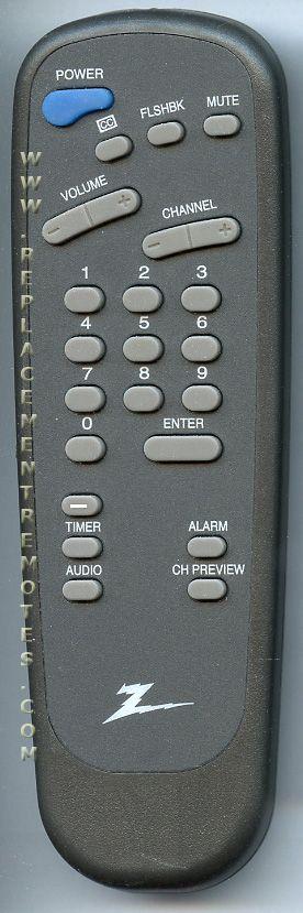 ZENITH 6710V00108N TV Remote Control