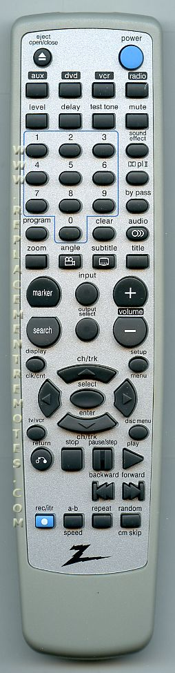 ZENITH 6711R2N079A Remote Control