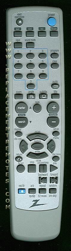 ZENITH 6711R2N122C Remote Control