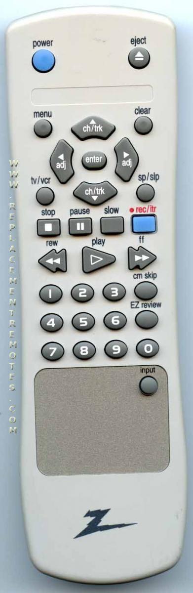ZENITH 6711R1N129A VCR Remote Control
