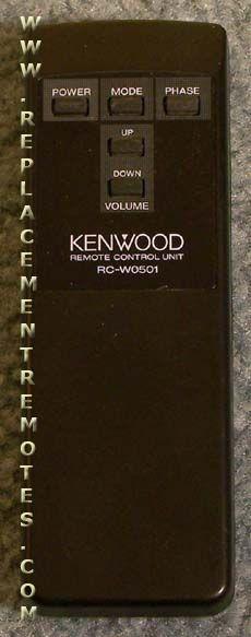 KENWOOD RCW0501 Audio System Remote Control