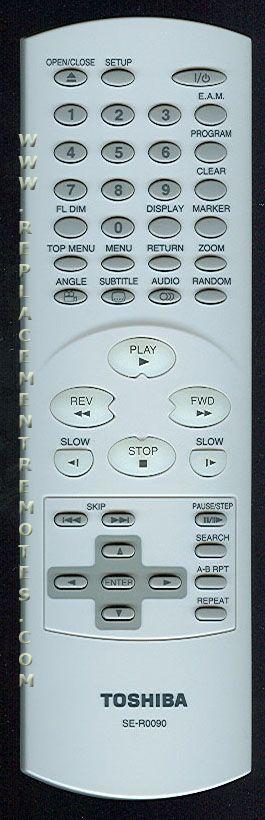 TOSHIBA SER0090 DVD Player Remote Control