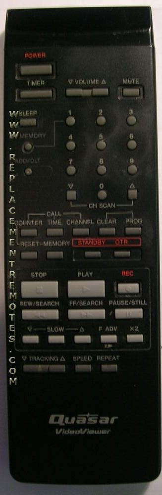 Quasar VSQS0718 TV/VCR Combo Remote Control