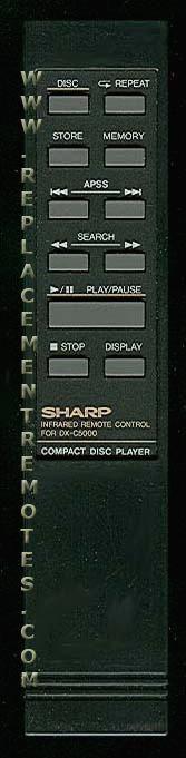 SHARP 91U1625048 Remote Control