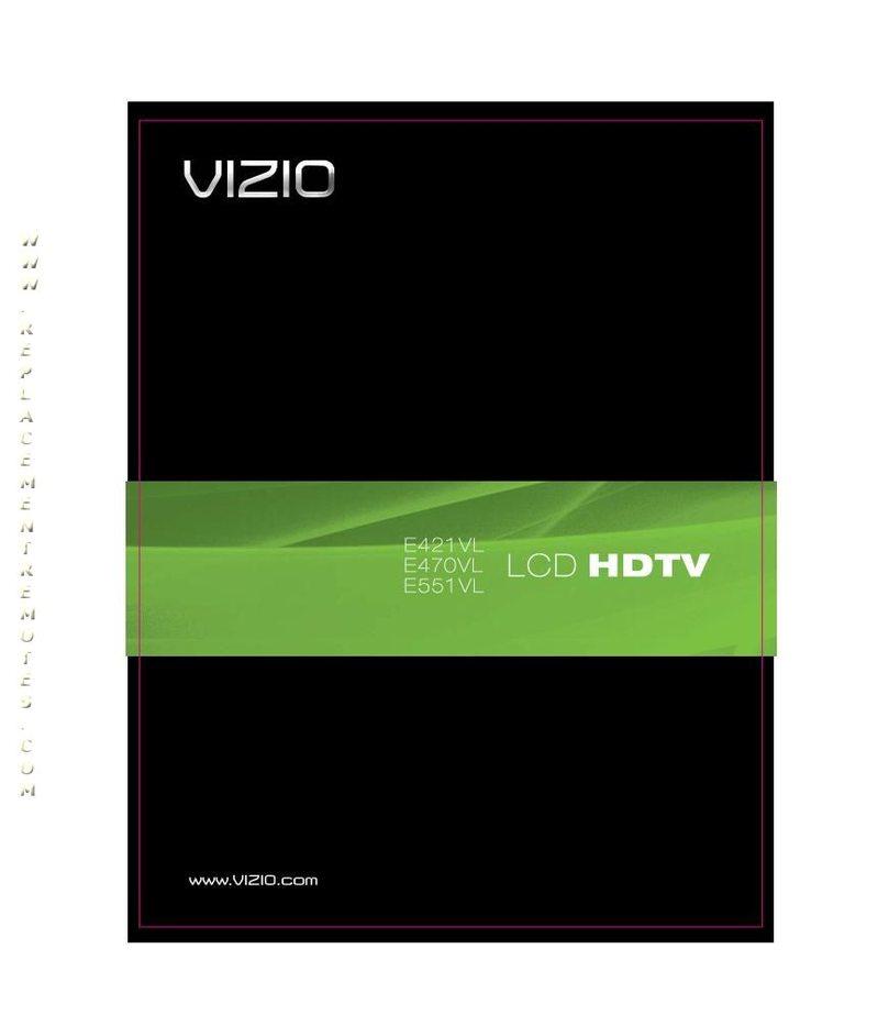 VIZIO E421VL E470VL E551VLOM Operating Manual