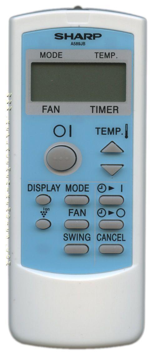 SHARP A589JB Remote Control
