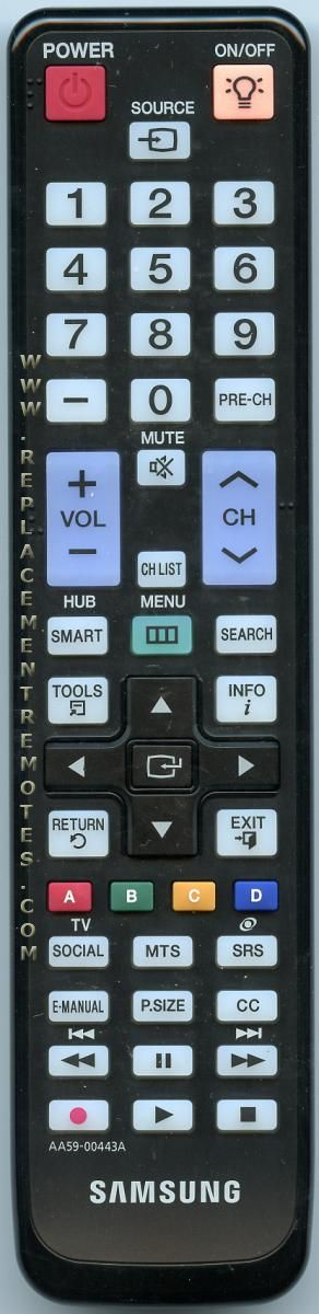 Buy SAMSUNG AA59-00443A AA5900443A TV Remote Control