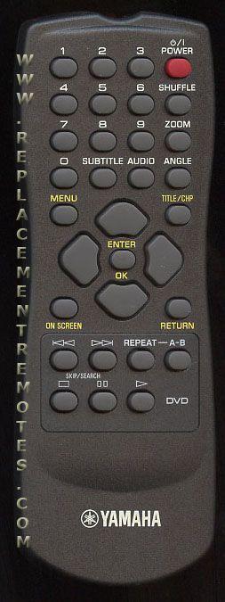 YAMAHA RC1113202/00 DVD Player Remote Control