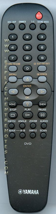 YAMAHA RC19237007/01 DVD Player Remote Control