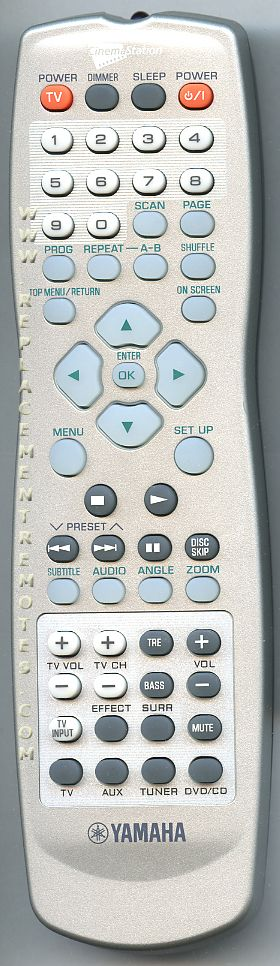 YAMAHA AAX67361 Audio/Video Receiver Remote Control