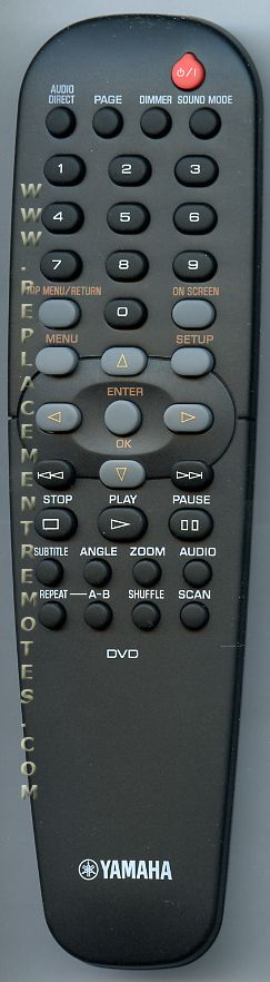 YAMAHA AAX69880 DVD Player Remote Control