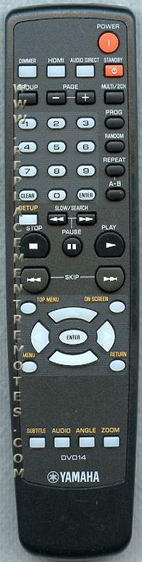 YAMAHA DVD14 DVD Player Remote Control