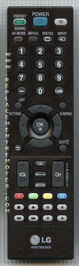 LG AKB73655806 TV Remote Control