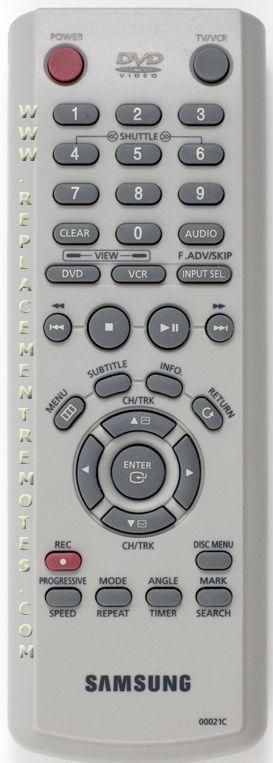 SAMSUNG 00021C DVD Player Remote Control