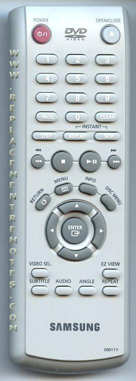 SAMSUNG 00011Y DVD Player Remote Control