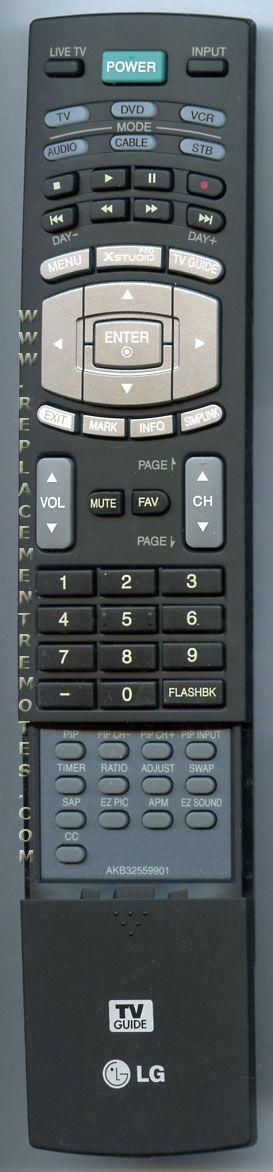 LG AKB32559901 TV Remote Control