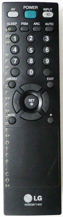 LG AKB33871403 TV Remote Control
